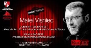 """Matei Vișniec - 50 de ani de poezie @ Biblioteca Județeană """"C. Sturdza"""" Bacău"""
