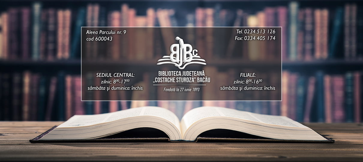 """Biblioteca Județeană """"Costache Sturdza"""" Bacău"""